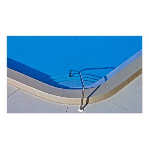 Swimming Pool Steps Business Card Templates