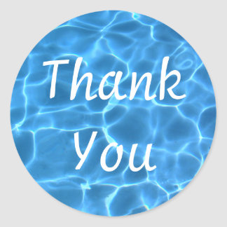 Swimming Pool Thank You Classic Round Sticker