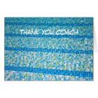 Swimming Pool Thank You Coach Card