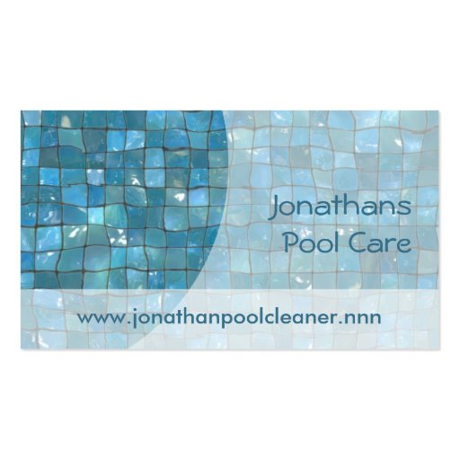 Swimming pool tiles business cards