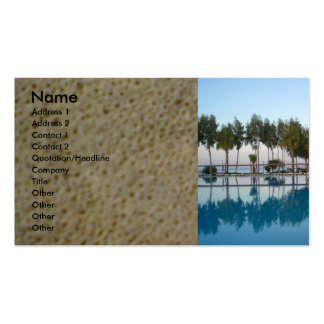 Swimming pool view pack of standard business cards