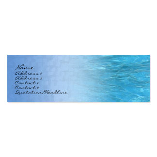 Swimming Pool Water Profile Card Mini Business Card