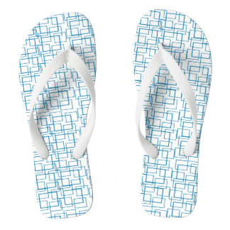 Swimming Pool Water Reflection Blue White Summer Flip Flops