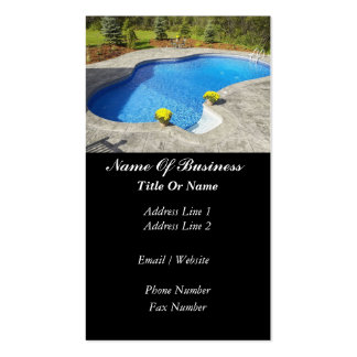 Swimming Pools Business Card