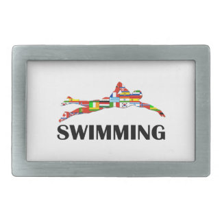 Swimming Rectangular Belt Buckles
