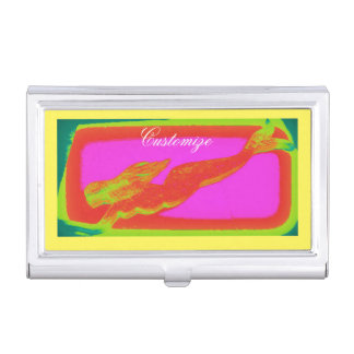 swimming red mermaid business card cases