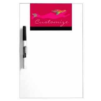 swimming red mermaid Thunder_Cove Dry Erase Whiteboard