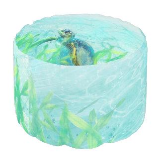 Swimming Sea Turtle Ocean Life Pouf