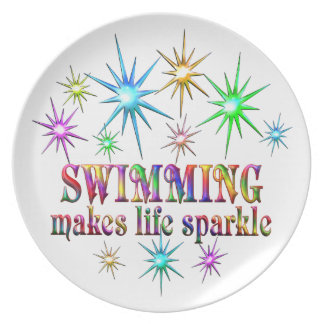 Swimming Sparkles Party Plate