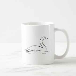 Swimming Swan Coffee Mug