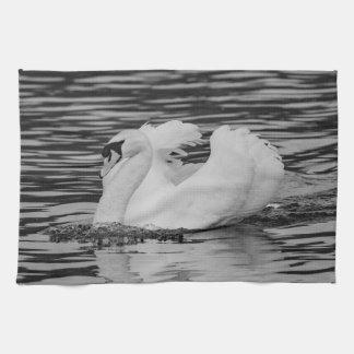Swimming Swan Kitchen Towel