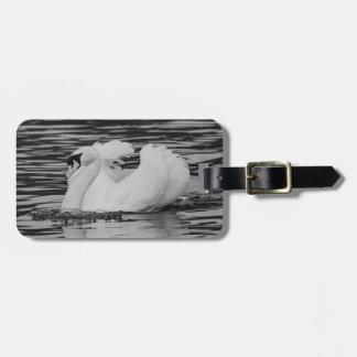 Swimming Swan Luggage Tag