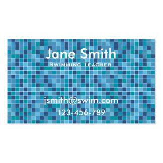 Swimming Teacher, Swim Coach, Swim Instructor Business Cards