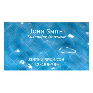 Swimming Teacher Swimming Instructor Swim Coach Business Card Templates