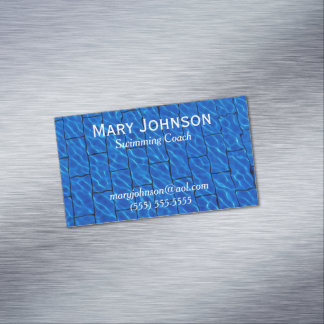 Swimming Teacher Swimming Instructor Swim Coach Magnetic Business Card