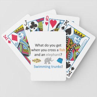 Swimming Trunks Joke Bicycle Playing Cards