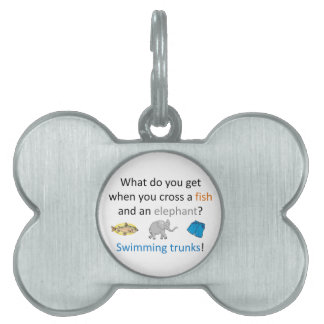 Swimming Trunks Joke Pet Name Tags