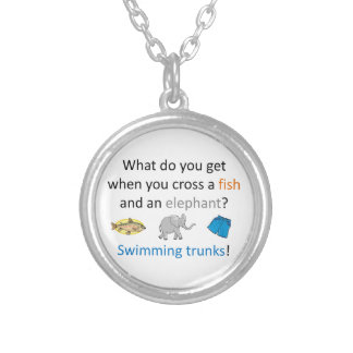 Swimming Trunks Joke Silver Plated Necklace