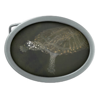 Swimming Turtle Belt Buckle