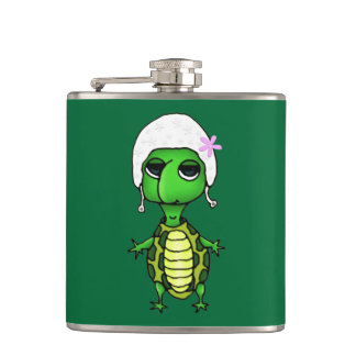 Swimming Turtle Hip Flask