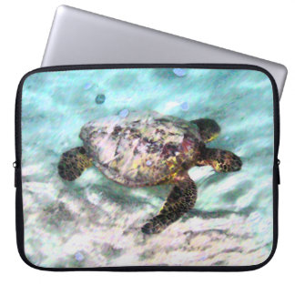 Swimming Turtle Laptop Sleeve