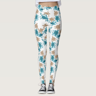 Swimming Turtle Pattern Leggings