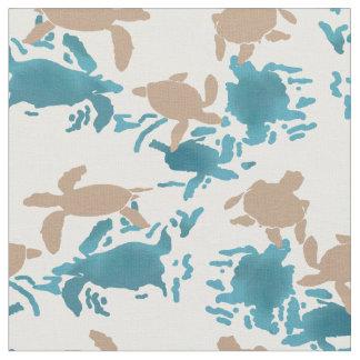 Swimming Turtles Fabric