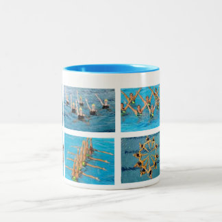 Swimming Two-Tone Coffee Mug