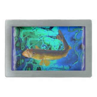 Swimming Walleye, Pickerel Fish Art Belt Buckles