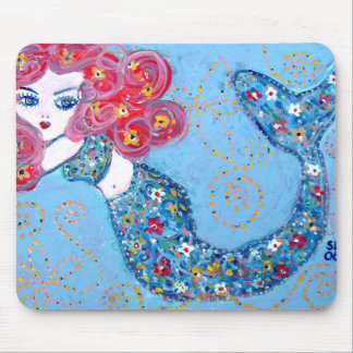 swimming with grace mouse pad