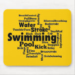 Swimming Word Cloud Mousepad