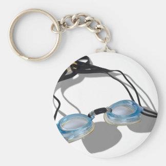 SwimmingGoggles091210 Porte-clé Rond