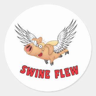 SWINE-FLEW.ai Classic Round Sticker