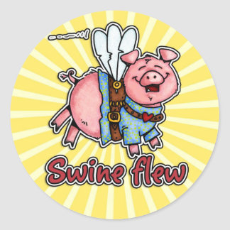 swine flew sticker