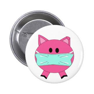Swine Flu Badge 2 Inch Round Button