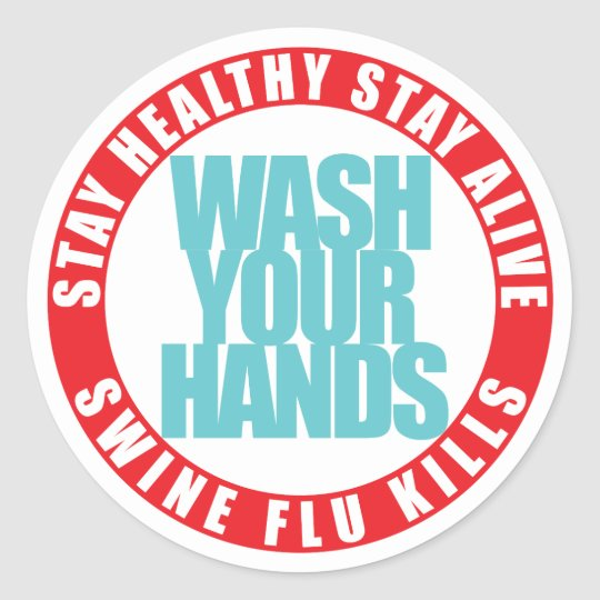 Swine Flu Classic Round Sticker