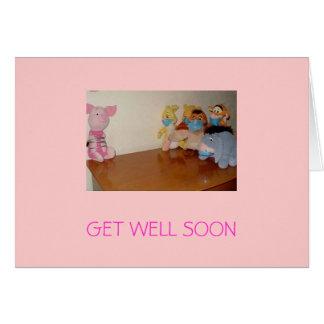 swine flu, GET WELL SOON Card