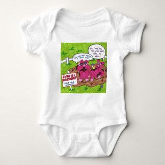 Swine Flu Hazard Baby Bodysuit