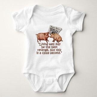 Swine Flu Humor Products Baby Bodysuit