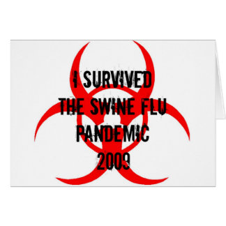 SWINE FLU PANDEMIC CARD