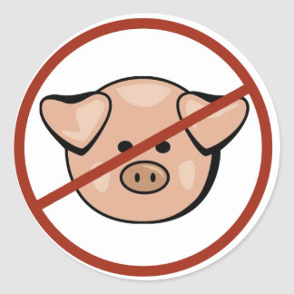 Swine Flu / Pork Classic Round Sticker