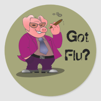 Swine Flu Stickers