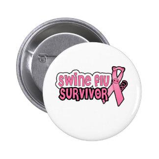 Swine Flu Survivor 2 Inch Round Button