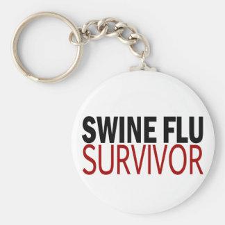 Swine Flu Survivor Basic Round Button Keychain