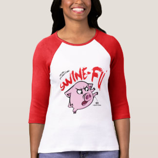 Swine Fu Humour T-Shirt