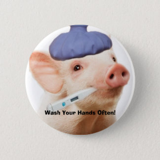 Swine H1N1 2 Inch Round Button