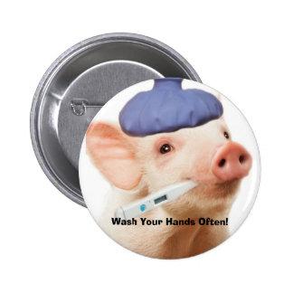 Swine H1N1 2 Inch Round Button