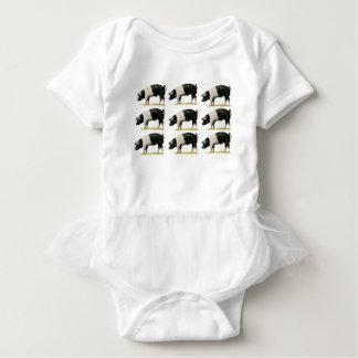 swine in a row baby bodysuit