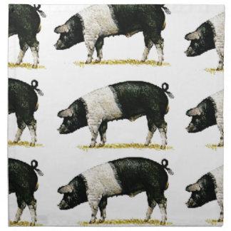 swine in a row napkin