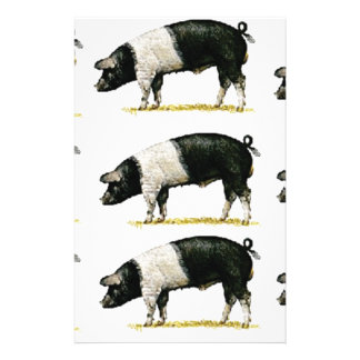 swine in a row stationery